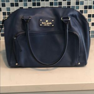 Kate Spade Denim blue leather satchel